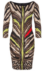 ROBERTO CAVALLI - Beige Animal Dress - Rent Designer Dresses at Girl Meets Dress