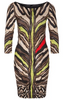 ROBERTO CAVALLI - Beige Animal Dress - Designer Dress hire
