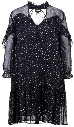 ROBERTO CAVALLI - Dotted Ruffle Dress - Designer Dress hire
