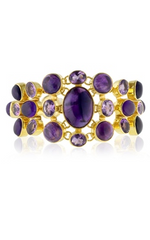 KATIE ROWLAND - Amethyst Flower Bracelet - Designer Dress Hire