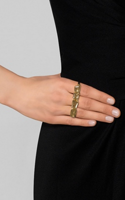 KATIE ROWLAND - Quartz Three-Finger Ring - Designer Dress hire