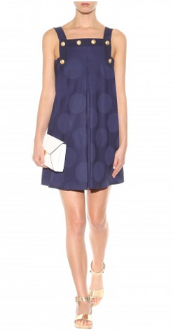 KENZO - Pinafore Cotton Dress - Designer Dress hire