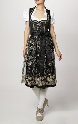 KRUGER DIRNDL - Black Krüger Dirndl - Designer Dress hire