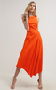 LK BENNETT - Cherie Red Midi Dress - Designer Dress hire