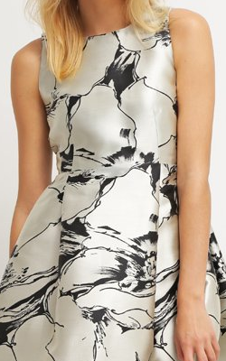 LK BENNETT - Monochrome Midi Dress - Designer Dress hire