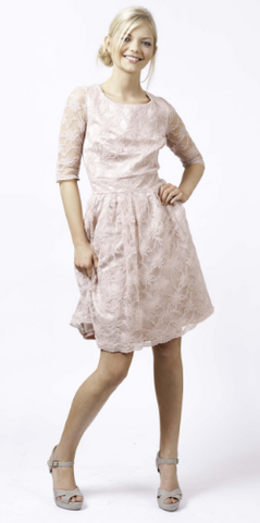 MAIDS TO MEASURE - Lacey Dress Pink - Designer Dress hire