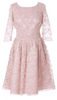 Self Portrait - Pink Lace Frill Dress - Designer Dress hire