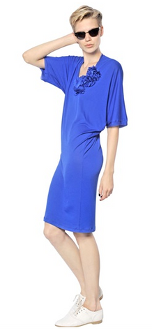 LANVIN - Flower Viscose Jersey - Designer Dress hire