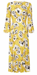 GHOST - Luisa Floral Midi Dress - Rent Designer Dresses at Girl Meets Dress