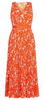 GHOST - Mindy Dress Cheetah Orange - Designer Dress hire