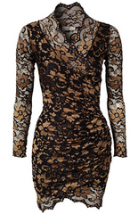 LILI LONDON - Wrap Front Lace Dress - Designer Dress Hire