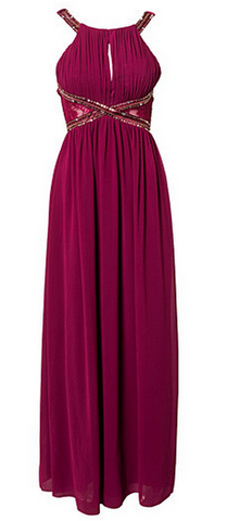 LITTLE MISTRESS - Maxi Purple Dress - Designer Dress hire