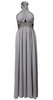 LITTLE MISTRESS - Wrap Front Dress Silver - Designer Dress hire