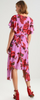 LOST INK - Rose Pleated Dress - Designer Dress hire