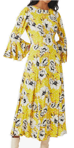 GHOST - Luisa Floral Midi Dress - Designer Dress hire
