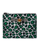 MAWI - Green Leopard Clutch - Designer Dress hire