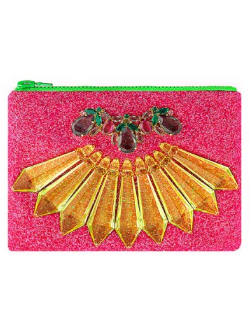 MAWI - Hot Pink Glitter Clutch - Designer Dress hire