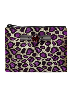 MAWI - Purple Leopard Clutch - Designer Dress hire