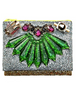 MAWI - Silver Double Glitter Clutch - Designer Dress hire