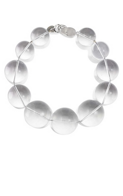MICHAEL KORS - Clear Lucite Necklace - Designer Dress hire
