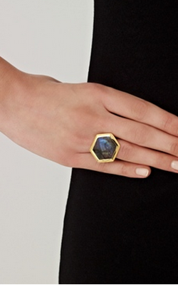 MISSOMA - Labradorite Cocktail Ring - Designer Dress hire