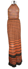 M MISSONI - Halter Maxi Dress - Designer Dress Hire