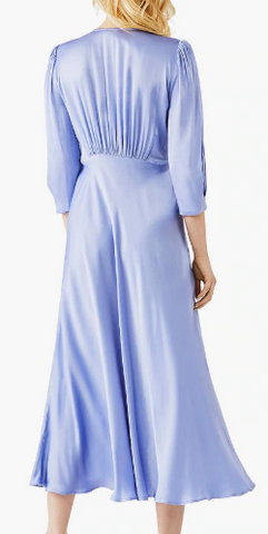 GHOST - Madison Satin Bluebell Dress - Designer Dress hire