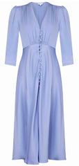 GHOST - Madison Satin Bluebell Dress - Rent Designer Dresses at Girl Meets Dress