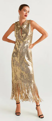 Mango - Sequins Fringed Dress - Rent Designer Dresses at Girl Meets Dress