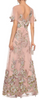 MARCHESA NOTTE - Metallic Embroidered Tulle Gown - Designer Dress hire