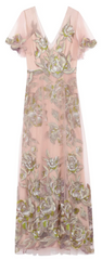 MARCHESA NOTTE - Metallic Embroidered Tulle Gown - Rent Designer Dresses at Girl Meets Dress