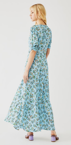 GHOST - Marley Floral Blue Dress - Designer Dress hire