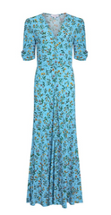 GHOST - Marley Floral Blue Dress - Rent Designer Dresses at Girl Meets Dress