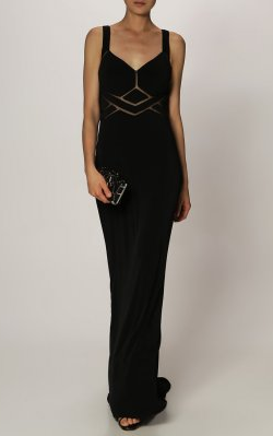 MASCARA - Golightly Black Gown - Designer Dress hire