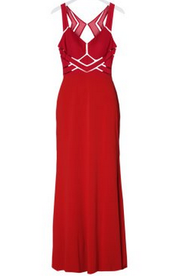 MASCARA - Golightly Red Gown - Designer Dress hire