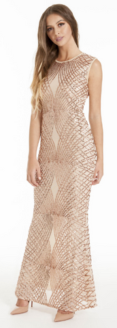 MATTEO - Selena Sequin Gown - Designer Dress hire