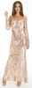 MATTEO - Camilla Gold Sequin Gown - Designer Dress hire