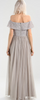 MAYA - Maura Silver Gown - Designer Dress hire