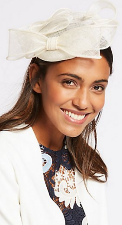 M&S COLLECTION - Pillbox Bow Fascinator - Designer Dress hire