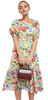 TWISTED WUNDER - Midi Tea Lemon Floral Dress - Designer Dress hire