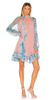 SUZANNAH - Peace Lily Silk Tea Dress - Designer Dress hire