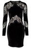 CARMEN MARC VALVO - Sleeved Lace Cocktail Dress - Designer Dress hire