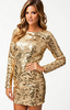 NLY - Jennifer Dress Gold - Designer Dress hire