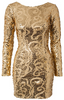 KRYSTOF STROZYNA - Orange Sand Dress - Designer Dress hire