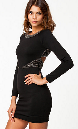 NLY - Bonnie Dress Black - Designer Dress hire