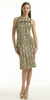 VERSACE JEANS - Gold Shift Dress - Designer Dress hire