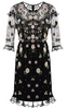 RED VALENTINO - Blue Rainbow Lace Dress - Designer Dress hire