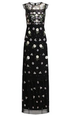 NEEDLE & THREAD - Floral Embroidered Gown - Designer Dress Hire