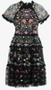 NEEDLE & THREAD - Floral Embroidered Pink Dress - Designer Dress hire