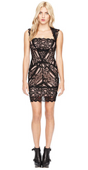 NICOLE MILLER - Eva Lace Dress Black - Designer Dress Hire